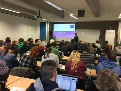 Evan delivering a guest lecture at Institute Of Technology Tralee